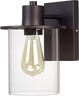 Stone & Beam Modern Industrial Indoor/Outdoor Wall Sconce with Bulb, 10