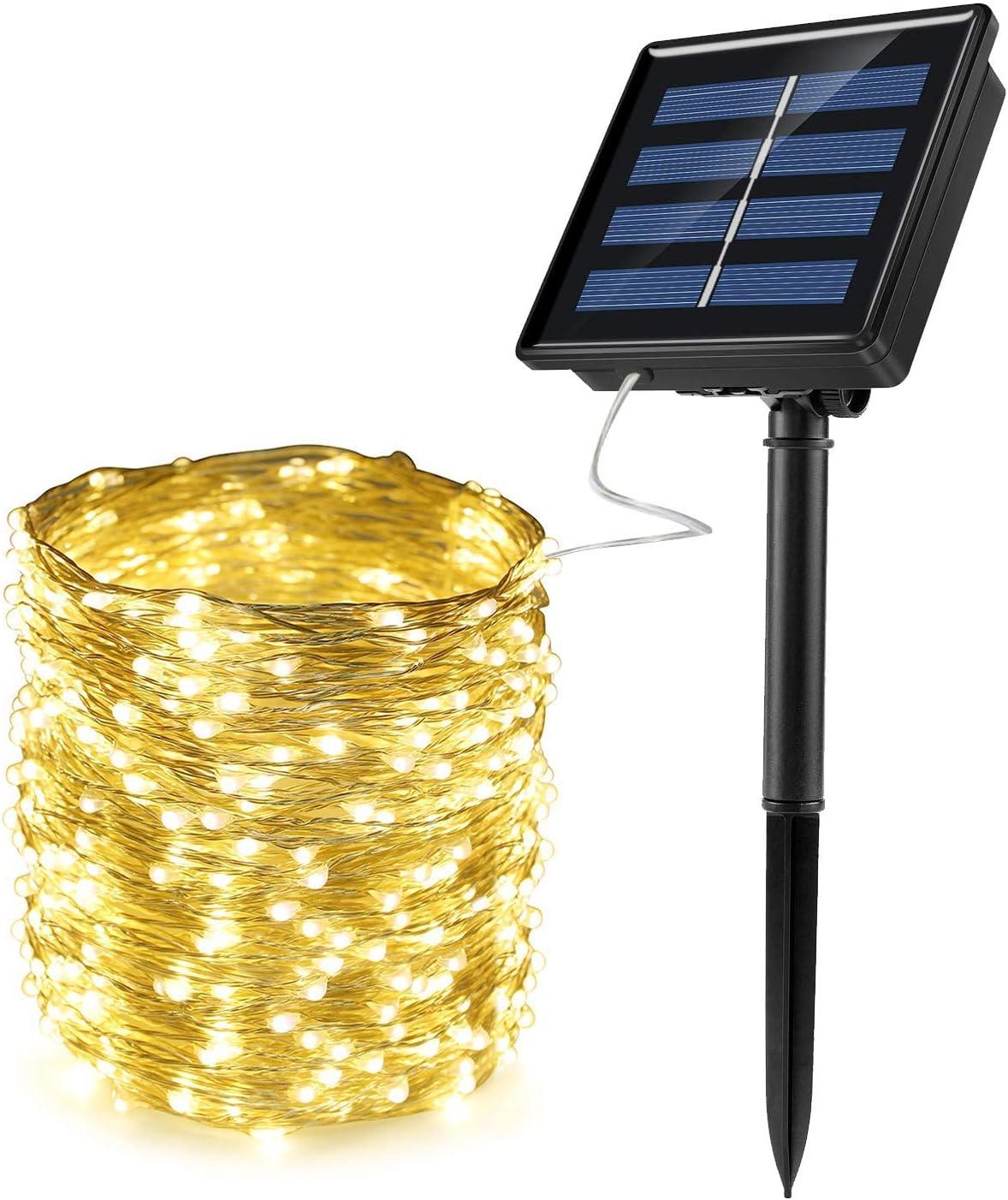 DRGRG Outdoor Cheap super special price Light Solar Max 69% OFF String Fairy Garland Lights Lig