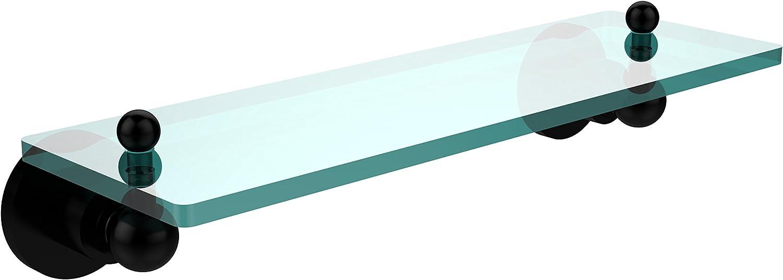 Allied Brass AP-1 16-BKM 16-Inch by 5-Inch Single Glass Shelf