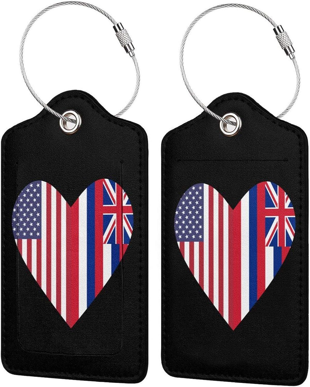 Half overseas 35% OFF Hawaii State Flag USA Lugga Leather PU Love Heart