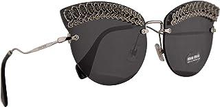 Miu Miu MU58TS Sunglasses Silver w/Grey 65mm Lens MPG5S0 MU 58TS SMU 58TS SMU58T