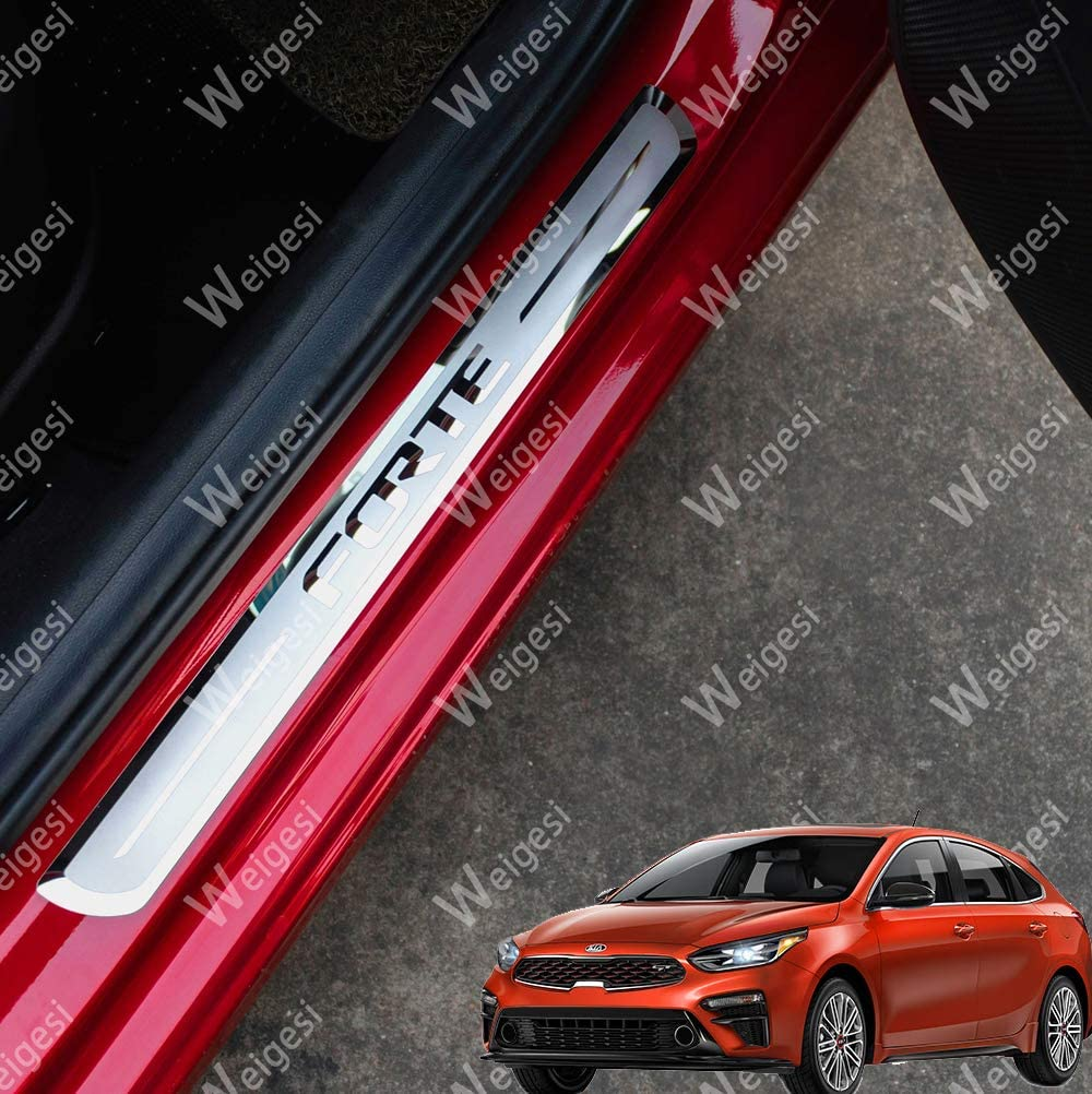Weigesi Stainless Steel Door Sill Scuff Plates Door Sill Protect