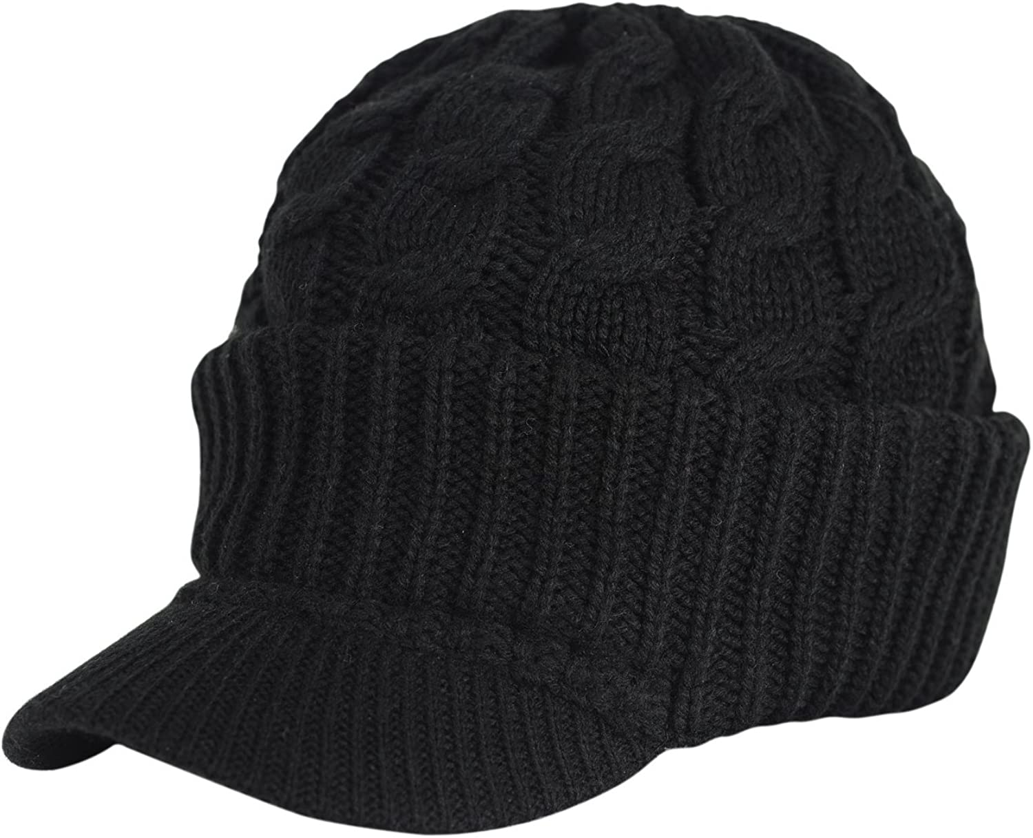 FashionTS Newsboy Sales results No. 1 Mesa Mall Cable Knitted Hat Brim Winter with Visor Warm