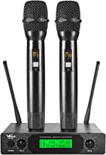 VeGue UHF Dual Channel Wireless Microphone System with Metal Handheld Mics, Ideal for..