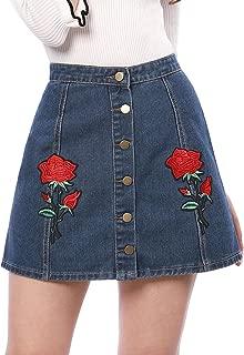 Best retro denim skirt Reviews