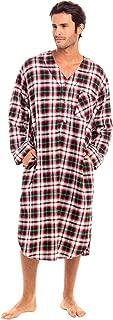 Men's Lightweight Flannel Sleep Shirt, Long Henley...