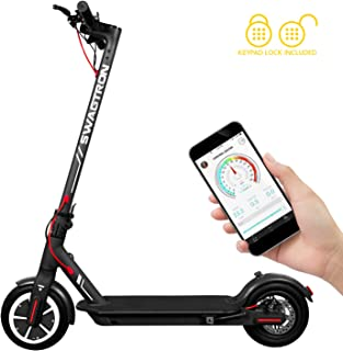 "Swagger 5 T High Speed Electric Scooter for Adults with 8.5"" Tires, Cruise Control and 1-Step Portable Folding"
