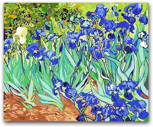 Dabobo Painting by Numbers The Orris Vencent Van Gogh sur Toile Peinture à l'huile Paquet Peinture Couleuriage Photos par numéros pour Adultes Enfants Pratique Peinture,encadré,60X75cm