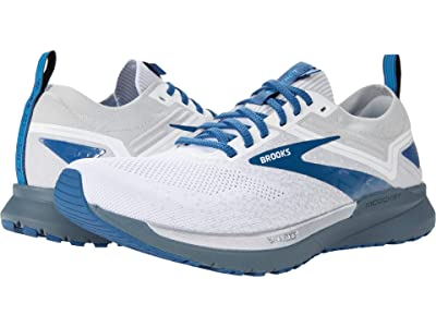 Brooks Ricochet 3 (White/Grey/Blue) Men