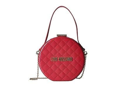 LOVE Moschino Circular Chain Purse (Rosso) Handbags
