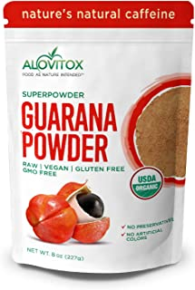 Sponsored Ad - Organic Guarana Seed Powder by Alovitox | Raw, Vegan, Gluten Free Super Food Supplement | Naturally High in...
