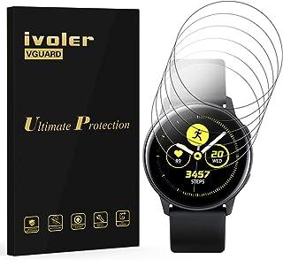 VGUARD 6 Unidades Protector de Pantalla para Samsung Galaxy Watch Active 2 44mm, [Cobertura Completa] [líquida Instalar] [...