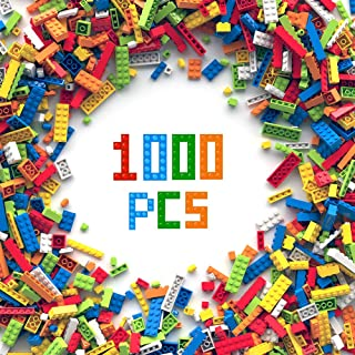 3 otters 1000PCS Building Bricks Set, Classic Creative Building Blocks Birthday Gift for Kids