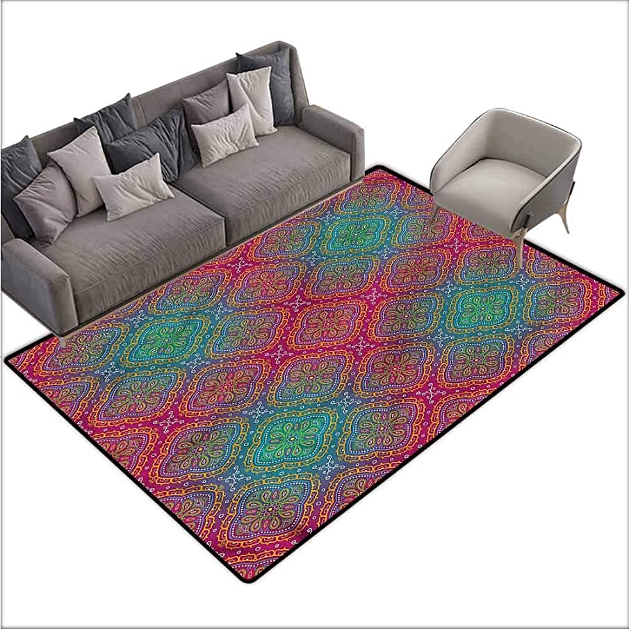 Entrance Modern Area Rugs Psychedelic,Boho Ombre Floral 48
