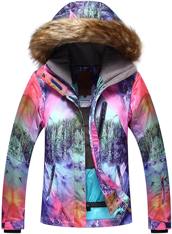 2018 Women's 3D Forest Pattern Winter Mountain Waterproof Outdoor Snow Jacket
