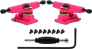 Teak Tuning Adjustable Width Fingerboard Trucks - Locking System - Allen Key Kingpin Style - Pink