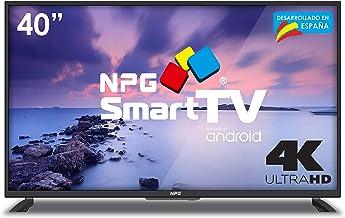 "Televisor 40"" LED NPG Smart TV Android Ultra HD 4K,"