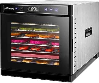 Nictemaw Déshydrateur d'aliments en acier inoxydable 8 plateaux avec écran LCD, grande capacité, 600 W, température réglab...