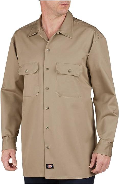 Dickies - - 549 Camisa de manga larga de algodón de peso ...