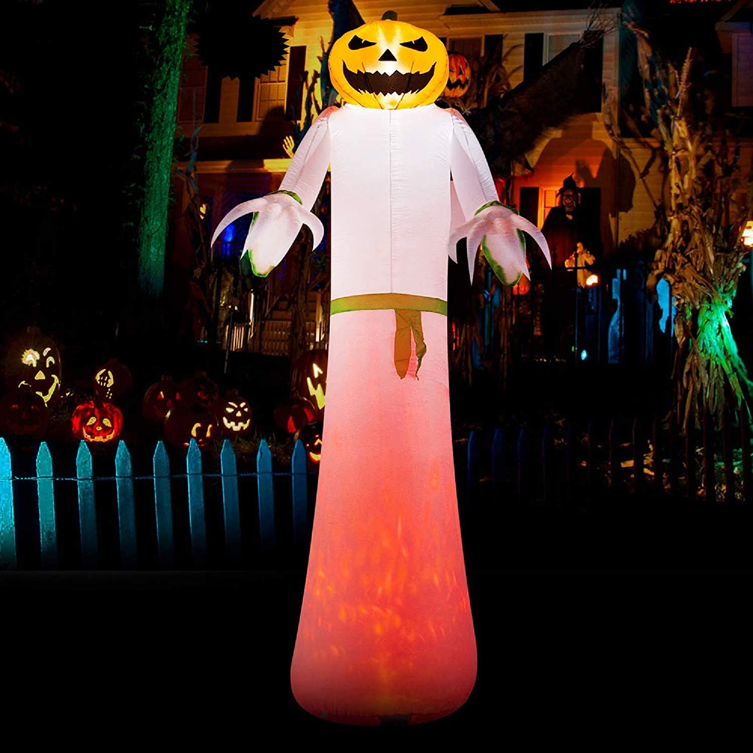SEASONJOY 12 Ft Halloween Inflatables Decorat Pumpkin New product type with Ghost Latest item