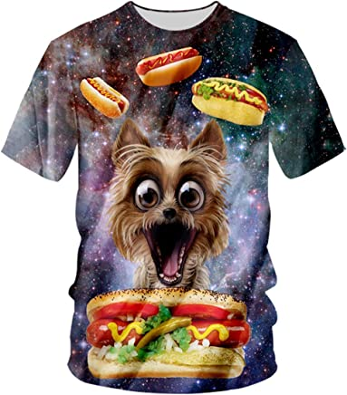 7e0b645f833 pinata Dog Novelty Galaxy Mens t-Shirts 3D Printed Graphic Plus Size Shirts