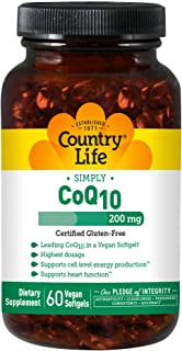 Country Life Coq 10 200mg Softgels, 60 Count