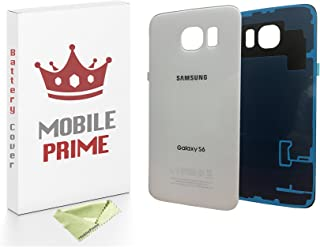 MobilePrime White Replacement Back Glass Back Cover Compatible for Samsung Galaxy S6
