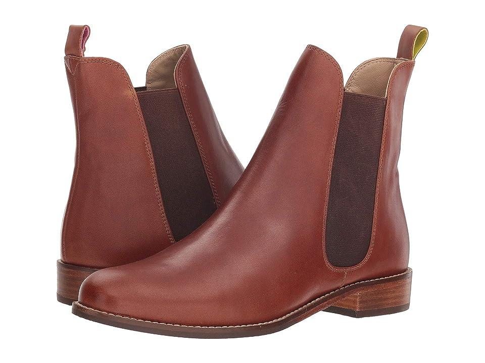 Joules Leather Chelsea Boot (Dark Brown) Women