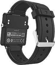 MoKo Garmin Vivoactive Watch Cinturino, Braccialetto di ricambio in Silicone per Garmin Vivoactive / Vivoactive Acetate Sports GPS Smart Watch, Nero