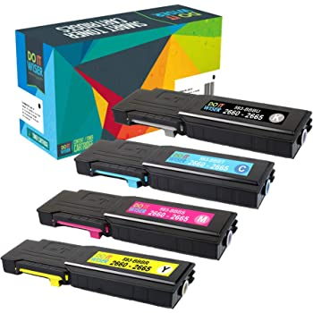 Y5CW4/_2PK SuppliesMAX Compatible Replacement for Dell C2660DN//C2665DNF Black Toner Cartridge 2//PK-6000 Page Yield