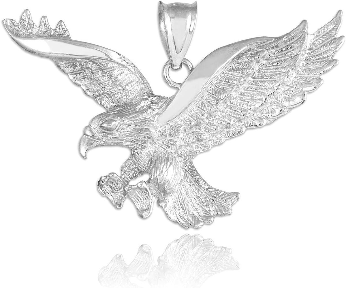 Animal Kingdom 925 Many popular Max 86% OFF brands Sterling Pendant Silver Eagle Flying