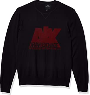 Men's Crew Neck Pullover with Large Ax NYC Logo