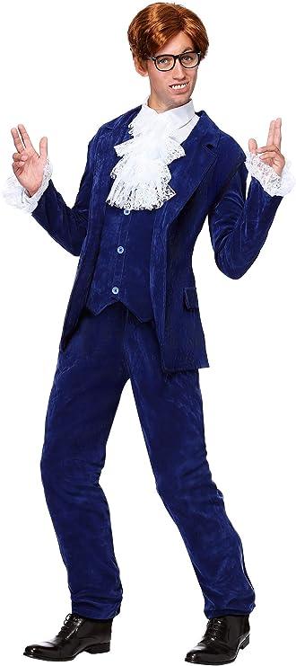 Vintage Men's Costumes – 1920s, 1930s, 1940s, 1950s, 1960s Mens Shagadelic Deluxe 60s Swinger Groovy Costume  AT vintagedancer.com