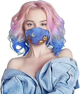 Muellery Halloween Face Mask Reusable Cover Lightweight Shield DN1052 (Blue)