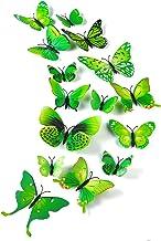 TUPARKA 36 stuks 3D vlinders decoratie vlinders wanddecoratie vlinders muursticker 3D wandtatoo vlinders balkon decoratie...