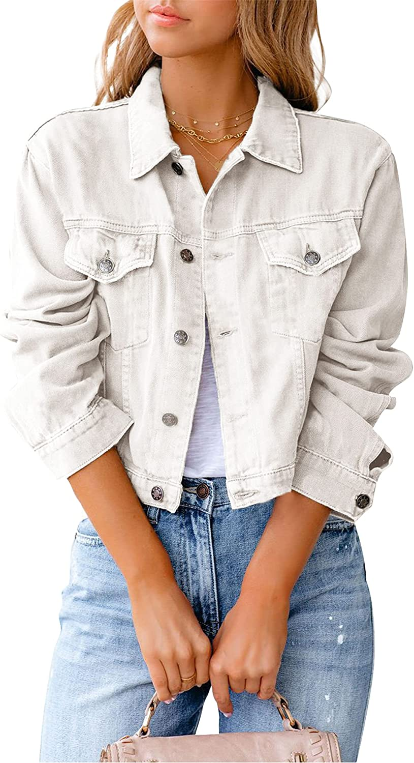 Women's Short Denim Jackets Solid Jacket Color Ranking TOP8 Jean Sleeve Long Special price