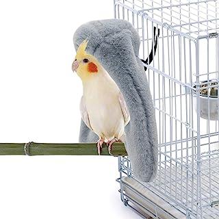 RYPET Cozy Corner Fleece Bird Blanket - Parrot Cage Snuggle Hut Warm Bird Nest House Bed Hanging Hammock Toy for Parakeet ...