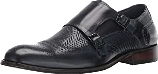 STACY ADAMS Men's Mabry Wing-tip Double Monk-Strap Loafer