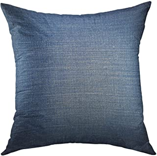 Mugod Decorative Throw Pillow Cover for Couch Sofa,Black Denim of Blue Jeans Blank Canvas Home Decor Pillow case 18x18 Inch