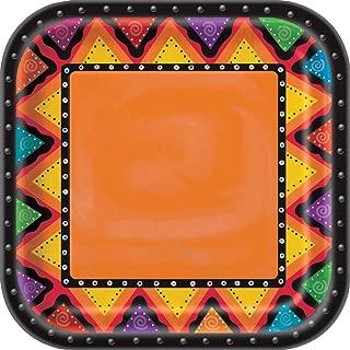 Partido Ênico 23 cm cuadrados de placas Partido Mexicano (paquete de 8)