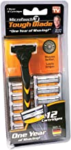 Micro Touch Triple-Blade Razor with 12 Refill Cartridges, 1 Set