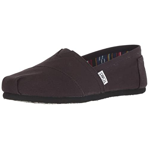 TOMS Womens 001001b07-blk Black Canvas Alpargata Flat