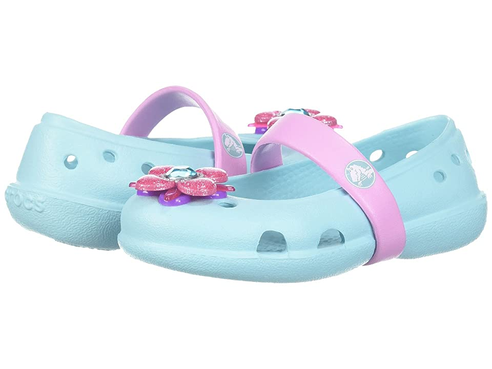 Crocs Kids Keeley Springtime Flat (Toddler/Little Kid) (Ice Blue) Girls Shoes