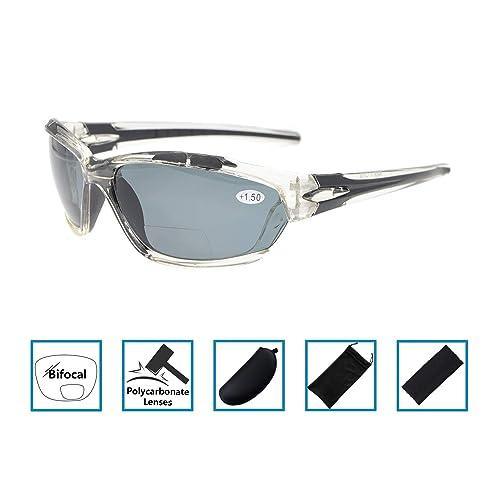 9ca2b7e0fe gafas de sol bifocales de lectura Wraparound Designer Style Sports Sun  Readers UV800 vidrios polarizados a