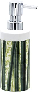 Ridder Canne Dispensador de jabón líquido, cerámica, Verde, ca. 5,9 x 5,9 x 17,5 cm