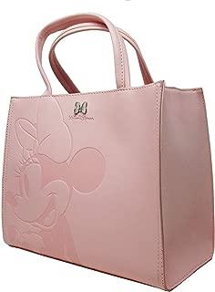 x Disney Minnie Mouse Pink Debossed Top-Handle Bag
