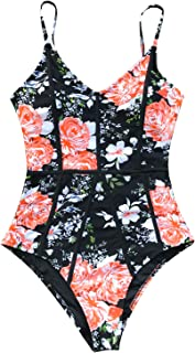Women's Young and Vigor Print High Waisted One-Piece Swimsuit