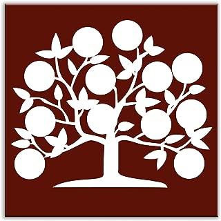 Light Burgundy Oscar /& Izzy Folksy Love June Satin Decorative Tile 4.25 by 4.25