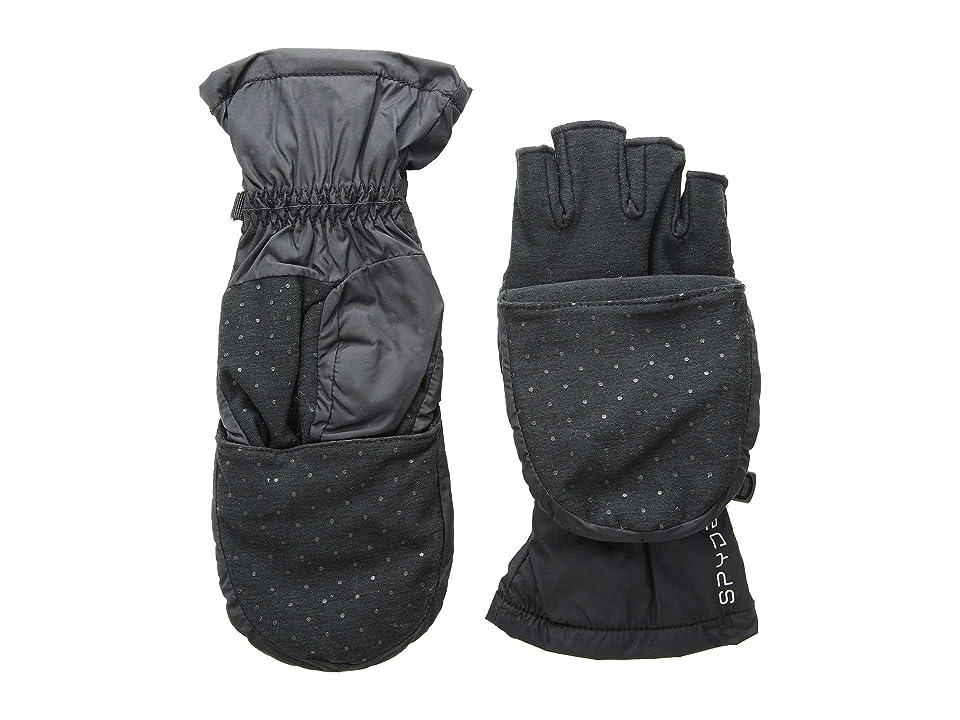 Spyder Solitude Convertible Mitten (Black/Black) Extreme Cold Weather Gloves