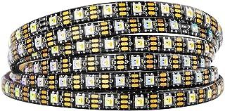 BTF-LIGHTING RGBW RGB+Natural White SK6812 (Similar WS2812B) Individually Addressable 16.4ft 60LEDs/Pixels/m Flexible 4 Colors in 1 LED Dream Color LED Strip IP65 Waterproof DC5V Black PCB